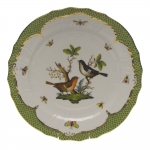 Rothschild Bird Green Border Service Plate - Motif #5