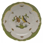 Rothschild Bird Green Border Service Plate - Motif #7