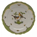 Rothschild Bird Green Border Service Plate - Motif #9