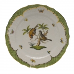 Rothschild Bird Green Border Service Plate - Motif #12