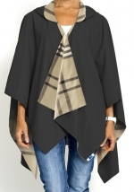 Black and Plaid Travel Raincoat