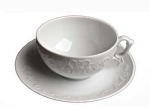 Simply Anna White Tea Cup Saucer