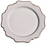 Simply Anna Polka Gold Bread and Butter Plate