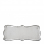 Scallop Aluminum Oblong Tray