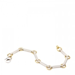 Sterling and Gold Bar Bracelet