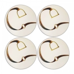 Stirrup and Strap Round Sandstone Coasters, Set of Four