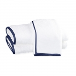 Chiaro White Bath Towel With Navy Trim