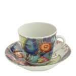 Tobacco Leaf Tea Cup and Saucer
