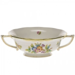 Queen Victoria Green Cream Soup Cup