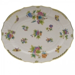 Queen Victoria Green Turkey Platter