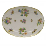 Queen Victoria Green 15\ Oval Platter