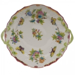 Queen Victoria Raspberry Chop Plate with Handles
