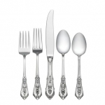 Rose Point Sterling Five Piece Dinner Setting