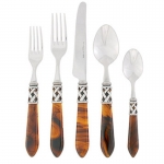 Aladdin Tortoiseshell Antique Five Piece Place Setting
