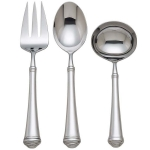 Allora Stainless Three-Piece Serving Set