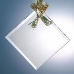 Beveled Square Diamond Ornament