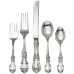 Burgundy Sterling Five Piece Place Setting