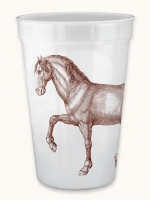 Prancing Horse 17 Ounce Pearlized Cups