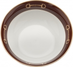 Cheval Chestnut Brown Serving Bowl