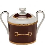 Cheval Chestnut Brown Covered Sugar Bowl