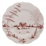Country Estate Winter Frolic Dinner Plate Made of Ceramic Stoneware