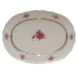 Chinese Bouquet Raspberry 15\ Oval Platter