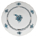 Chinese Bouquet Turquoise Bread and Butter Plate