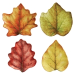 Forest Walk Leaf Cocktail Plates, Set of Four