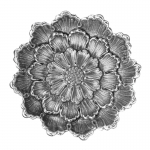 Large Dahlia Flower Dish