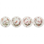 Chelsea Bird Set of Four Dessert Plates