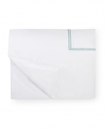 Grande Hotel White/Aqua King Duvet Cover