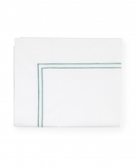 Grande Hotel White/Aqua King Flat Sheet