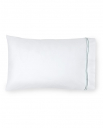 Grande Hotel White/Aqua Standard Pillowcases, Pair