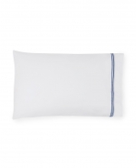 Grande Hotel White/Navy King Pillowcases, Pair