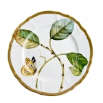 Antique Forest Leaves Salad Plate