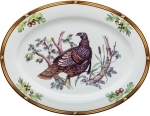 Game Birds Wild Turkey Oval Platter