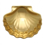 Gold Scalloped Dish