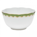 Fish Scale Evergreen Round Bowl