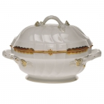 Princess Victoria Rust Tureen with Branch Handles