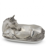 Pewter Horse Butter Dish