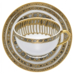 Syracuse Taupe Tea Cup and Saucer