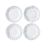 Incanto Set/4 White Assorted Canape Plates