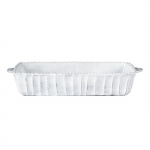 Incanto White Stripe Medium Rectangular Baker