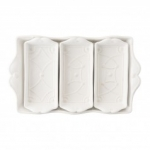 Jardins du Monde Villandry Whitewash 4-Piece Server Set