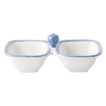 Le Panier White/Delft Two Section Server