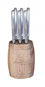 Steak Knives in Barrel Block (Set of Six)