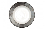 Emerson White/Pewter Pasta/Salad Bowl