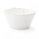Lastra White Stacking Cereal Bowl