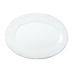 Lastra White Small Oval Platter