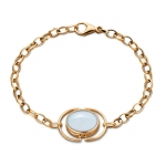 Blue Topaz Locket Bracelet
